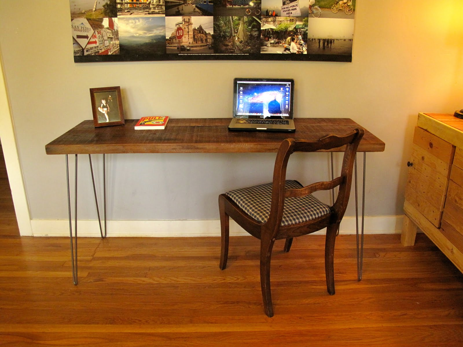 Arbor Exchange Reclaimed Wood Furniture Desk Hairpin Legs