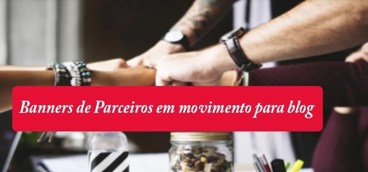 Banner Parceiros com movimento para blog