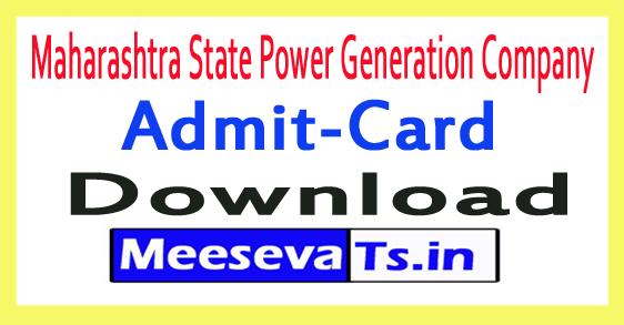 Maharashtra State Power Generation Company MAHAGENCO Admit Card Download 2017