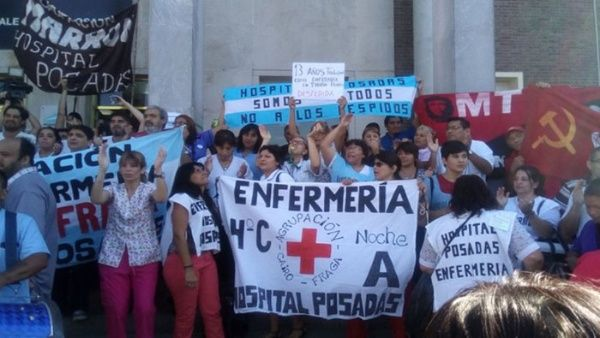 Argentina: Sector salud inicia paro de 24 horas ante despidos