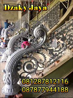 model railing tangga besi tempa, railing tangga klasik, railing tangga besi ulir (15)