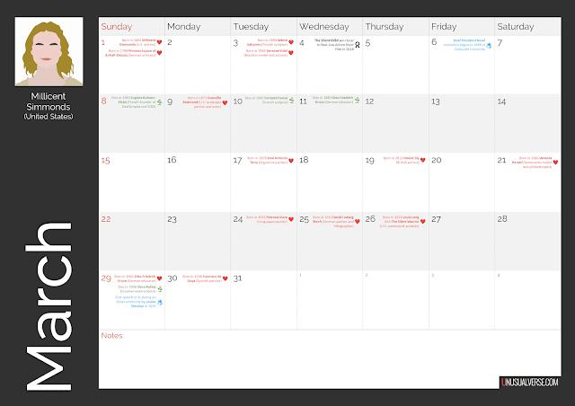 Deaf Calendar March 2020