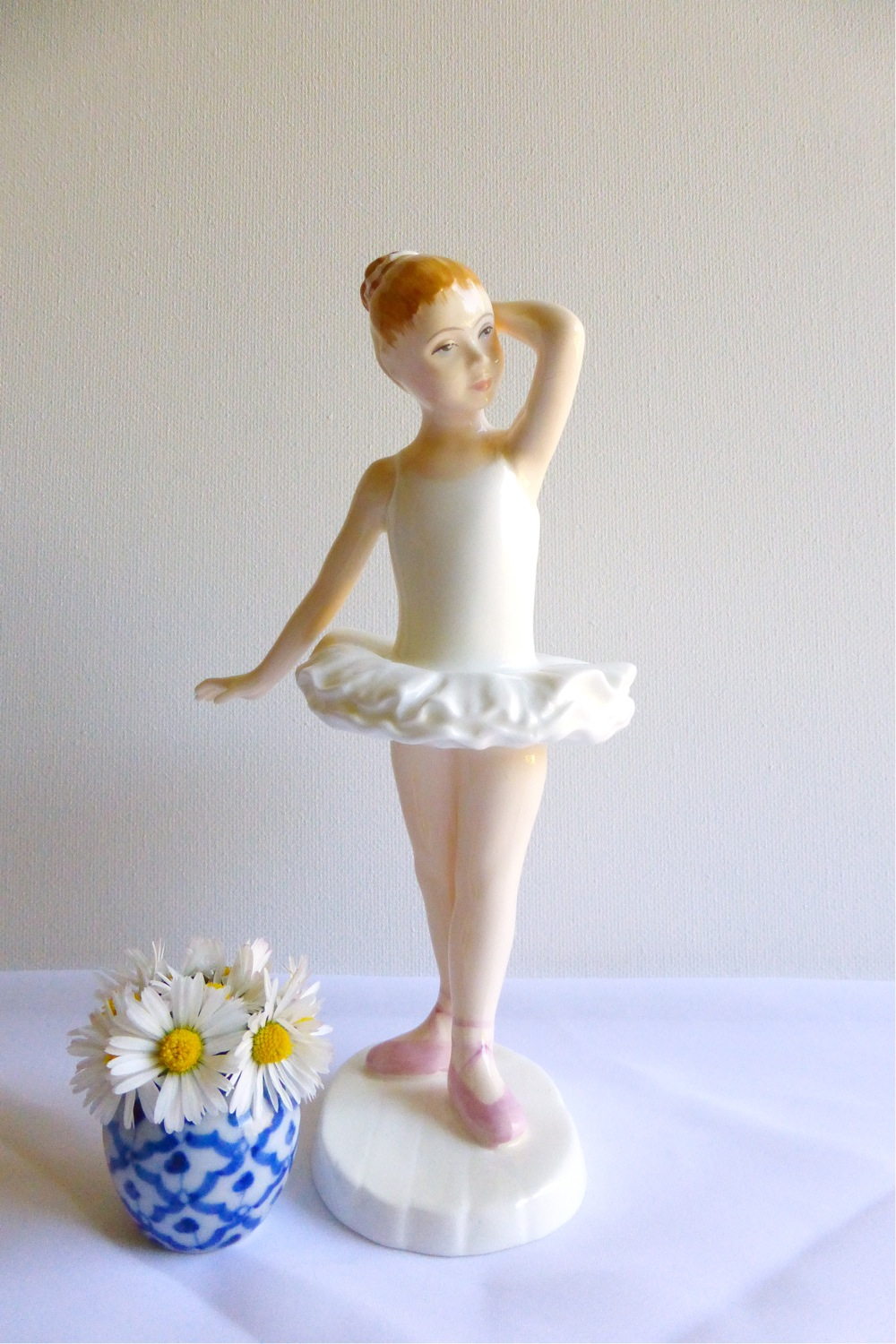 Royal Doulton HN3395 Little Ballerina, Royal Doulton bone china figurine, Vintage Tea Treasures on Etsy, Etsy shop Vintage Tea Treasures, vintage tea ware, vintage gifts, English bone china, vintage English tea ware, Etsy shop update