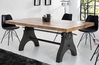 Zvedací jídelní stůl do moderního interiéru.