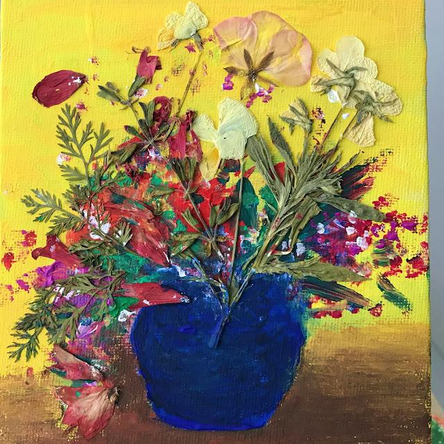 press flower canvas art