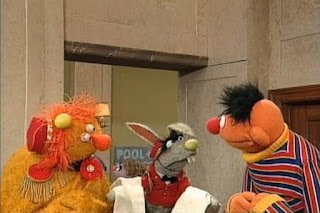 Ernie and The Dinger want to try with two dings for see what Benny does. Benny appears this time with two fresh towels. Sesame Street 123 Count with Me