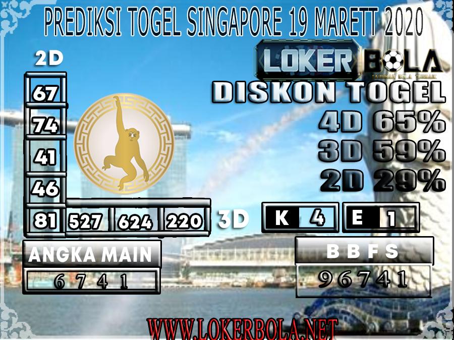 PREDIKSI TOGEL SINGAPORE LOKERBOLA 19 MARET 2020