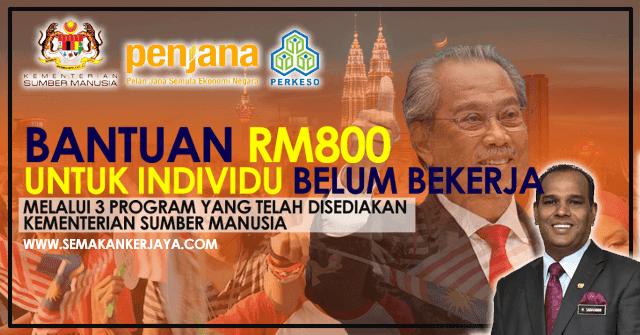 Bantuan RM800 Untuk Belia Belum Bekerja