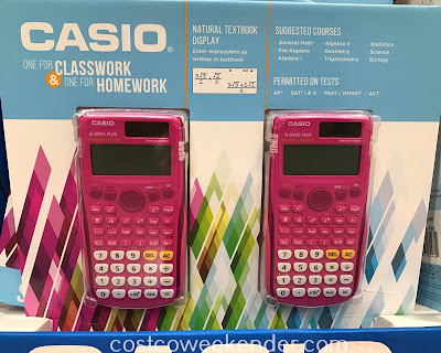 Costco 1231822 - Combo pack includes 2 Casio fx-300ES PLUS calculators: for school and for home