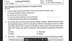 Soal Ulangan Kelas 4 Tema 4 Berbagai Pekerjaan