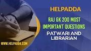 Raj GK Most Important 200 Questions (Download PDF)