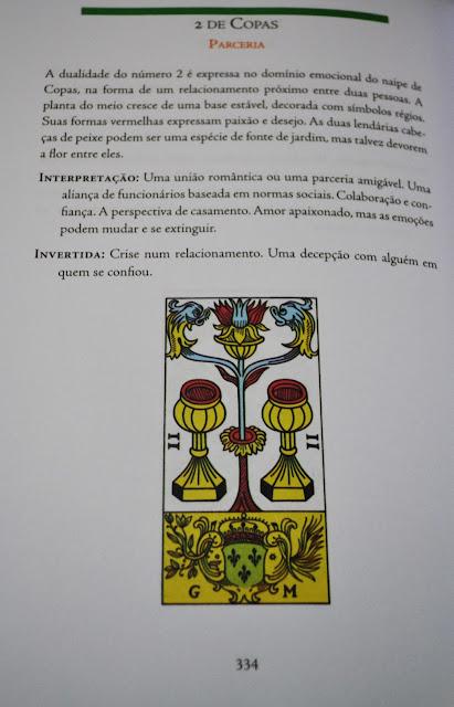 O tarô de Marselha Revelado — arcano menor 2 de copas.