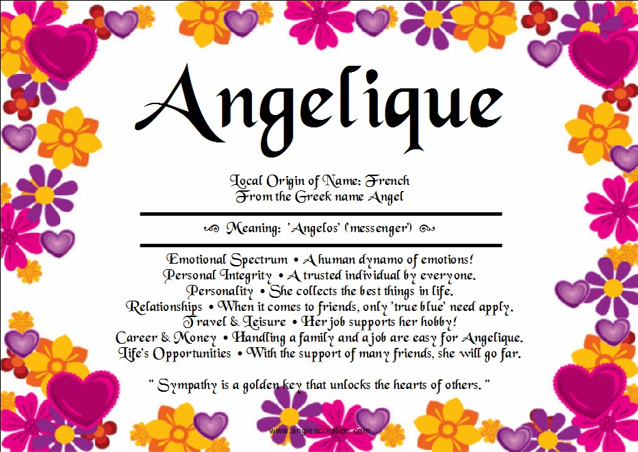Angelique | Unique Names