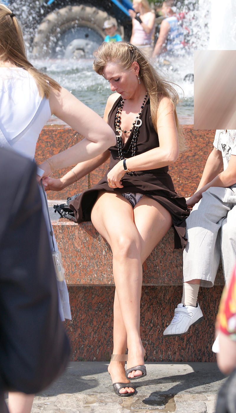 Candid on the street upskirt #4