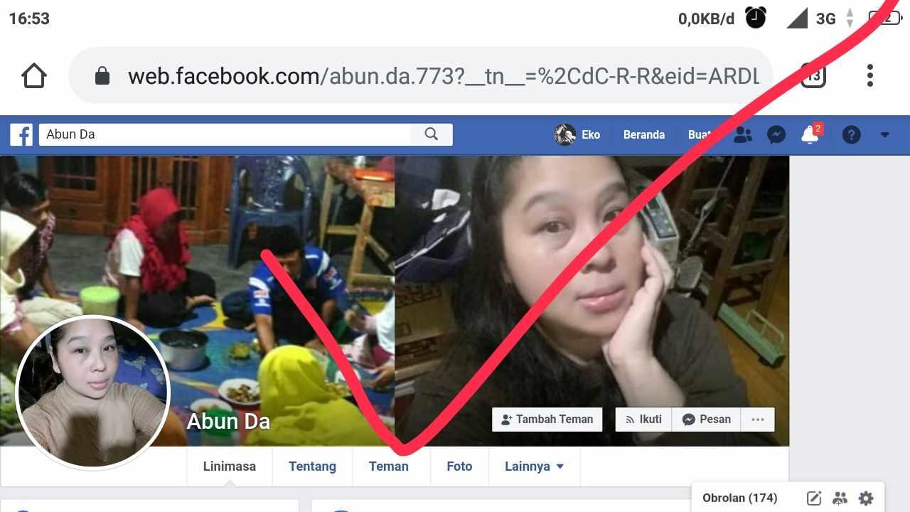 cara menghapus pertemanan di facebook dari hp