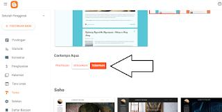 terapkan tema blogspot