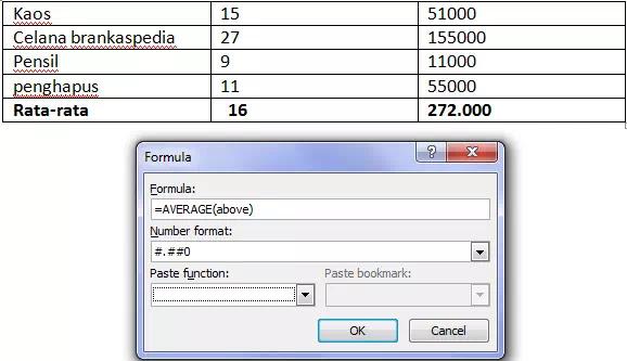 Cara Menambahkan Rumus ke Tabel di Microsoft Word-2