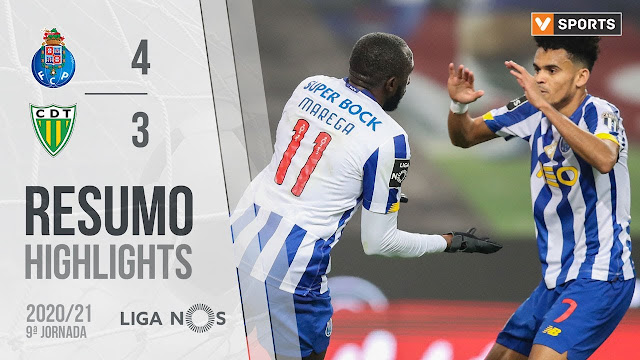 Highlights golas: FC Porto 4-3 Tondela (Liga 20/21 #9) - YouTube