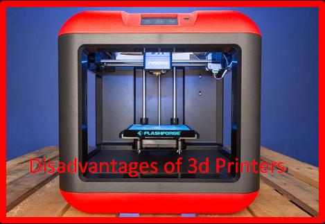 Disadvantages of 3d Printers