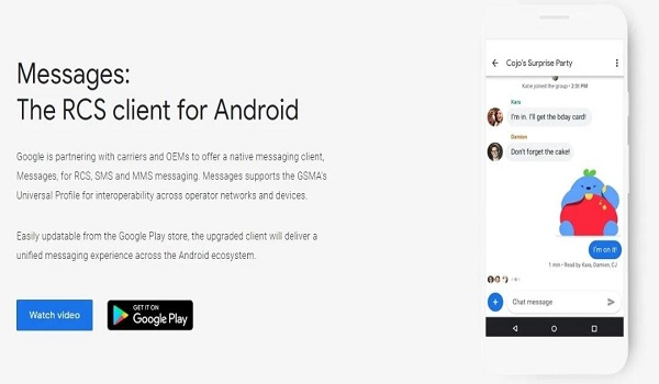 Google is finally launched out RCS support to Android Messages in the US