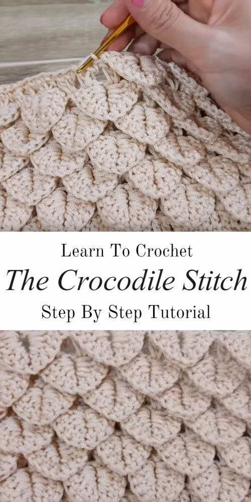 The Crocodile Stitch - Free Crochet Tutorial