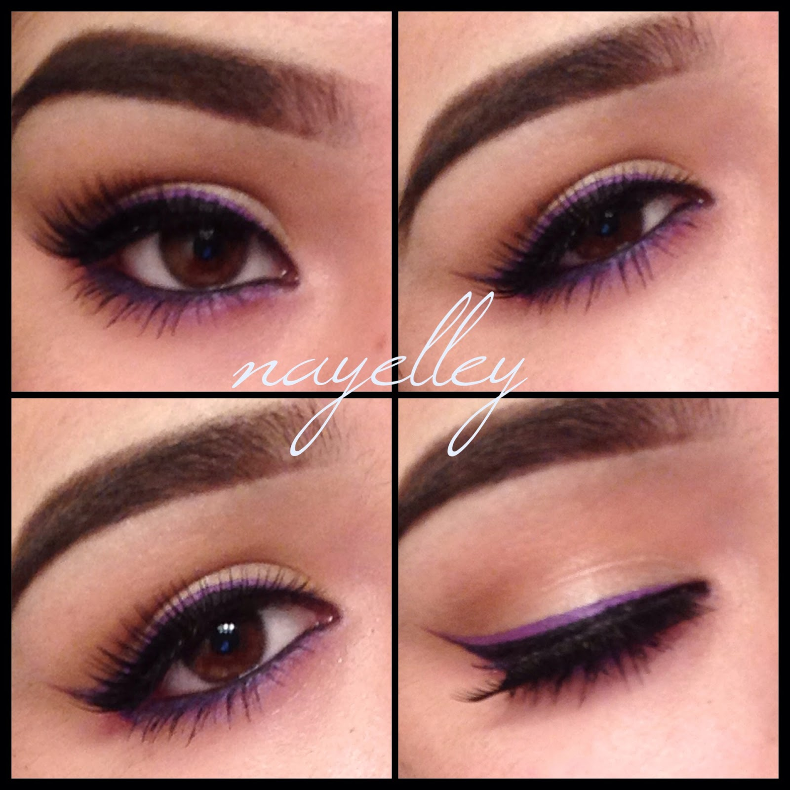 Makeup By Nayelley Brown Eye Girl Series Purple Double