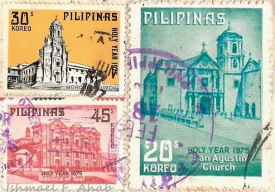 PhilPost stamps featuring churches in the Philippines