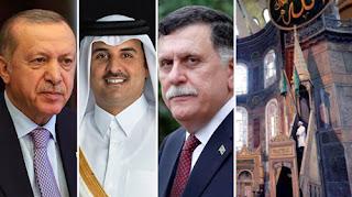 أنباء عن إرسال أردوغان دعوة لأمير قطر ورئيس حكومة الوفاق الليبية للصلاة في آيا صوفيا