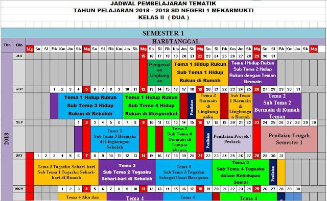 DOWNLOAD JADWAL PELAJARAN K13 SD-MI KELAS 2 SEMESTER 1 DAN 2 TP 2018-2019 SUDAH DEAL, http://www.librarypendidikan.com/