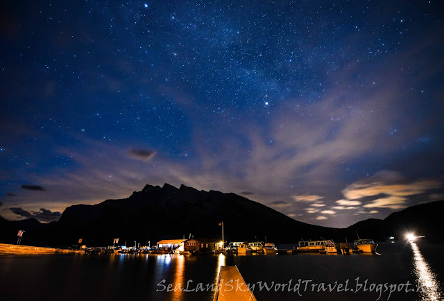 Lake Minnewanka, Banff, 班芙, galaxy, milky way