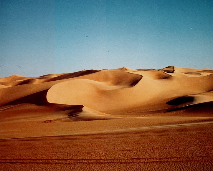 The Sahara, known in Arabic as as-Sahra 'al-kubra and means