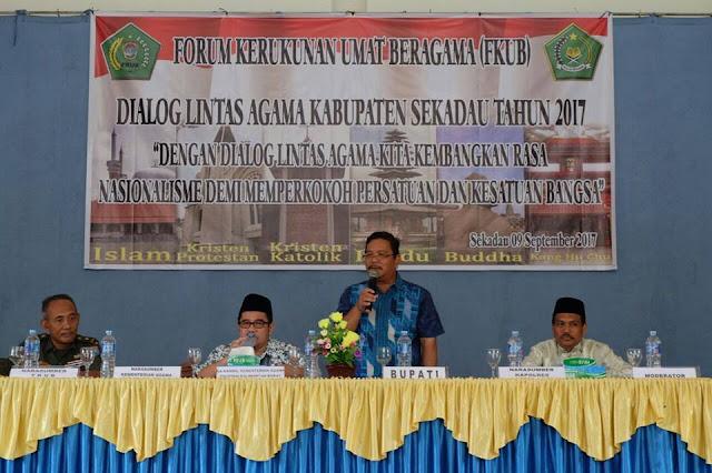 Bupati Buka Dialog Lintas Agama Bersama FKUB