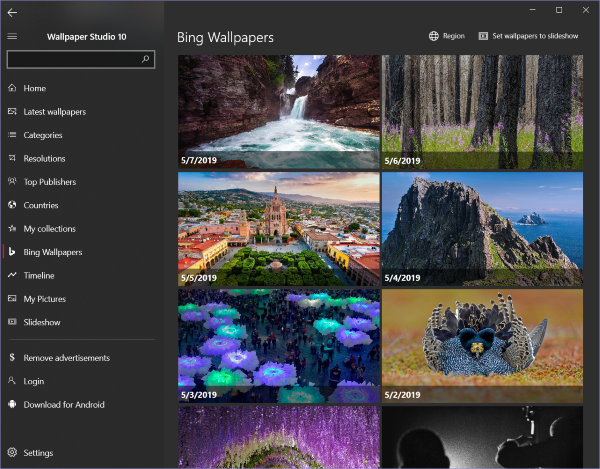Wallpaper Studio Windows 10