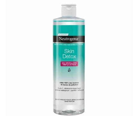 Apa micelara cu tripla actiune Neutrogena Skin Detox, 400 ml