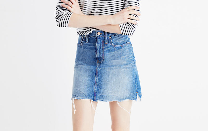 Shopping For The Perfect Denim Skirt - Style Interplay blog Portland Oregon
