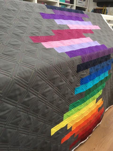 Cut Amp Alter Customer Quilt Rainbow Quilt