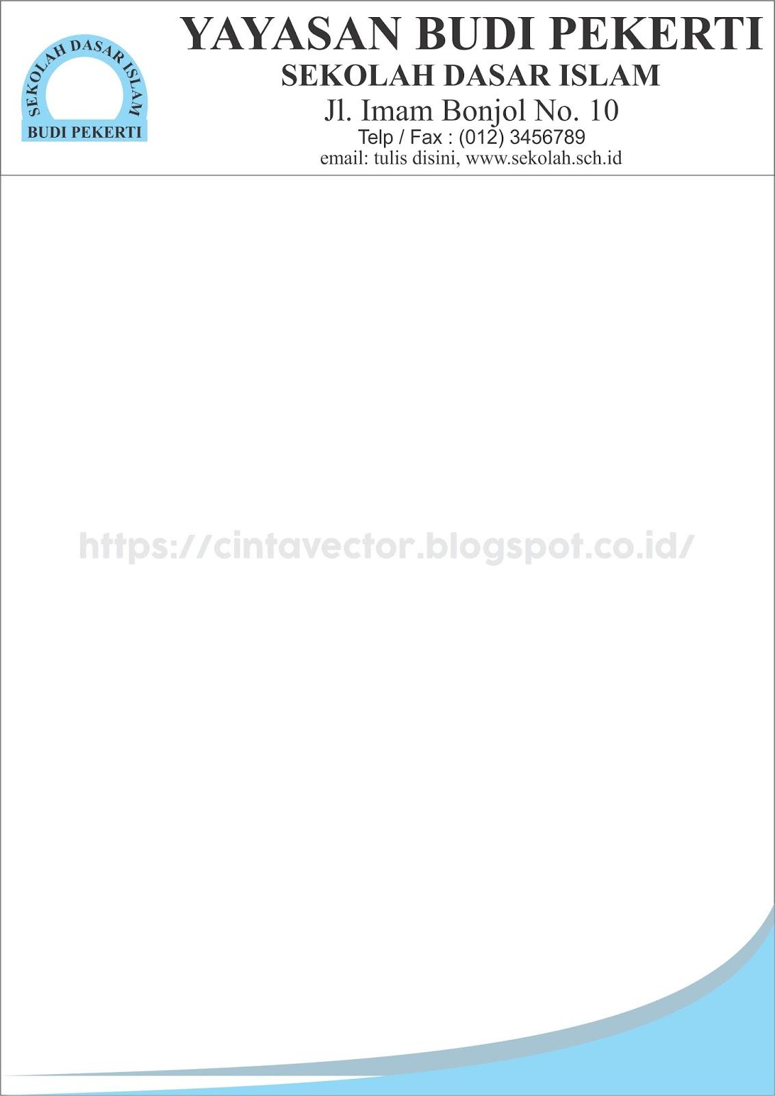 Contoh Kop Surat Yayasan Si Kuncunk
