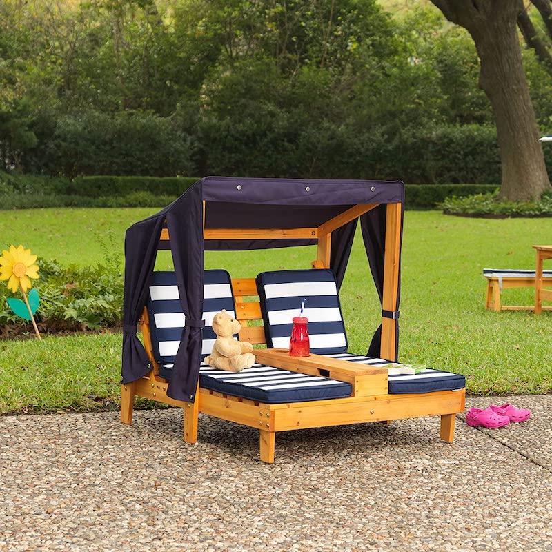 Hamaca de jardín de madera para niños