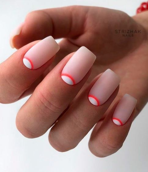 Elegant Half Moon Nails