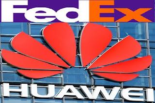 توقف FedEx عن شحن هاتف Huawei