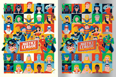 Justice League Unlimited Screen Print by Dave Perillo x Grey Matter Art