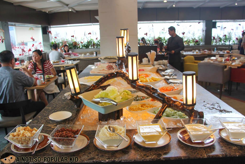 The salad station of F All Day Dining Restaurant, F1 Hotel