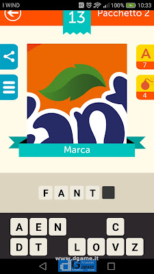Iconica Italia Pop Logo Quiz soluzione pacchetto 2 livelli 13-50