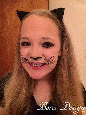 how to apply cat makeup paint costume face easy diy tutorial halloween