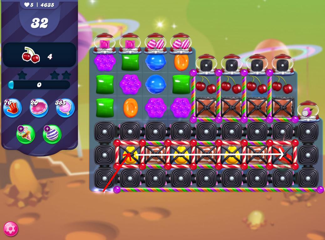 Candy Crush Saga level 4635