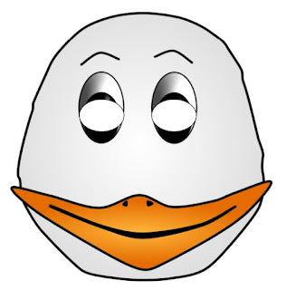 Máscara para imprimir de pato blanco