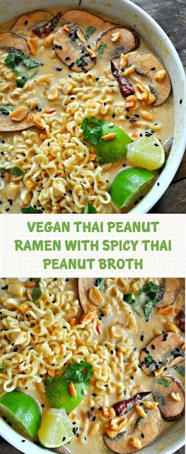 Vegan Thai Peanut Ramen With Spicy Thai Peanut Broth