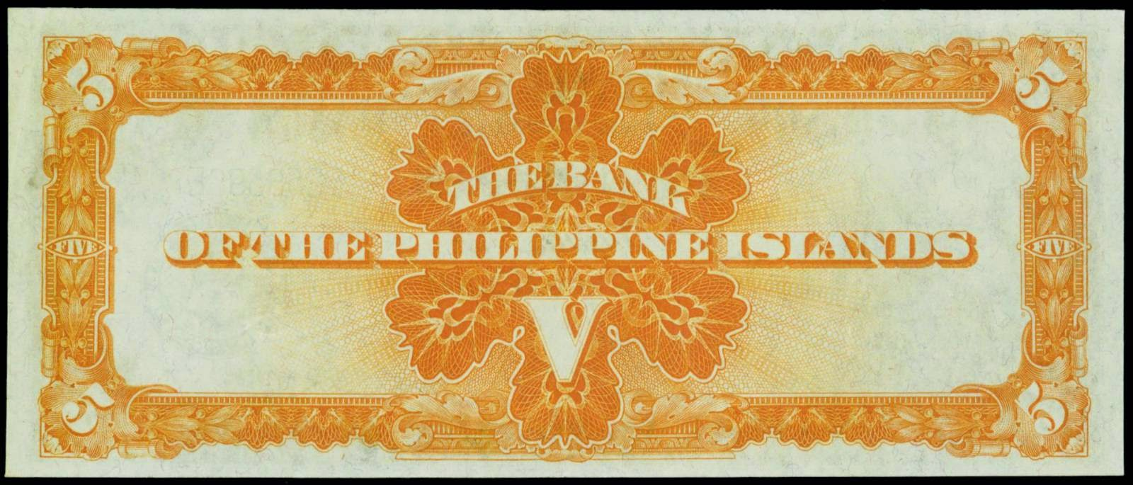 Philippine currency 5 Pesos Bank Note 1933