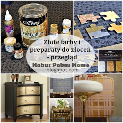 Złote farby i preparaty do złoceń - przegląd 20 produktów i moje TOP 3!