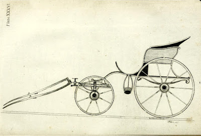 Poney or one-horse phaeton  from A Treatise on carriages by W Felton (1796)